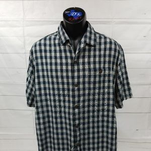 Tommy Bahama Men's Camp Large Silk Blue Gray Check